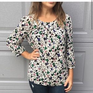 Talbots multicolored Floral Top